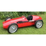 A petrol driven 'Ferrari 500' child's car,