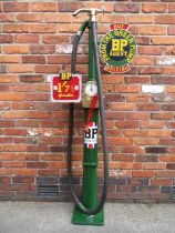 An Avery Hardoll model CH1 one gallon hand-cranked petrol pump,