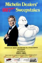 A James Bond 007 Michelin Dealer's Sweepstakes poster, 1985,