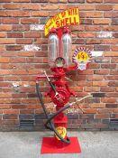 A Hammond two gallon visible hand-operated semi-rotary petrol pump,