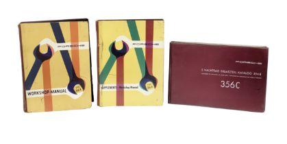 Three Porsche 356 technical manuals, ((3))