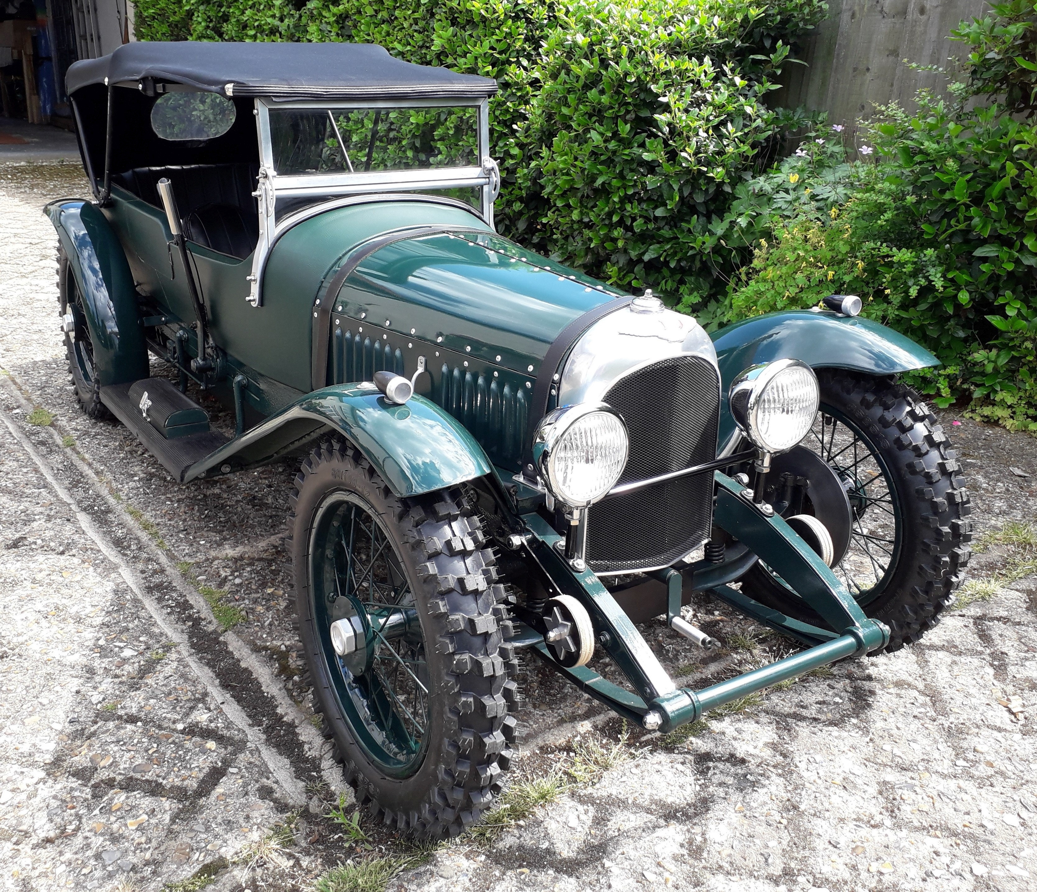 A 'Vintage Bentley' electrically powered child's car,