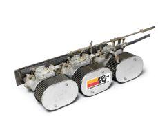 A set of three Weber carburettors Tipo 45 DCOE 9,