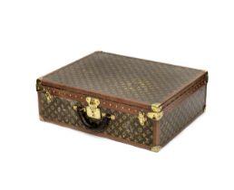 A Louis Vuitton suitcase,