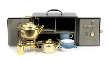 A Christopher Dresser design cased tea-set for two persons, retailed by Kendall & Co, Paris, circ...