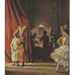 Dame Laura Knight, RA, RWS (British, 1877-1970) Waiting in the Wings 62 x 53.6 cm. (24 3/8 x 21 1...