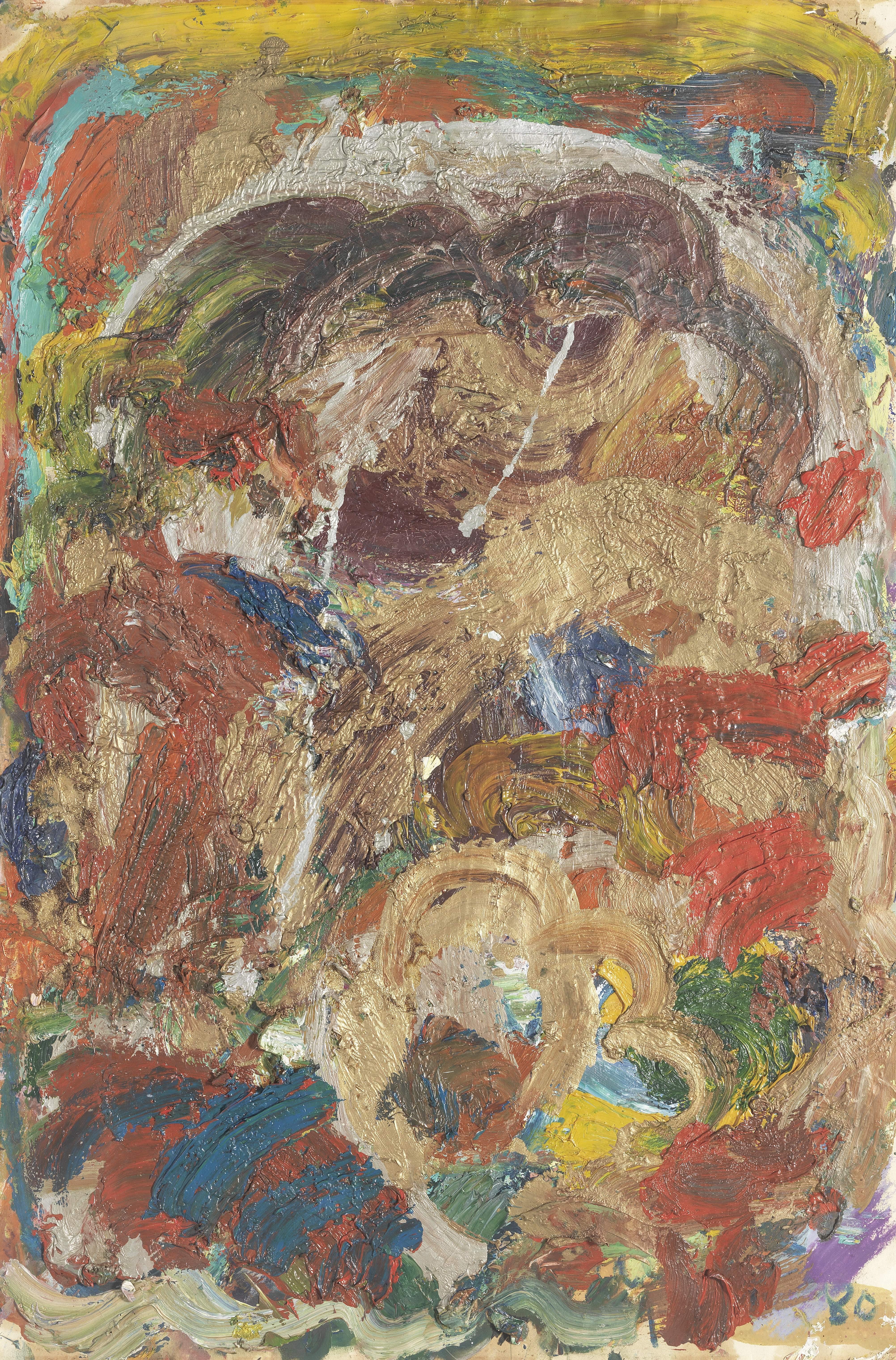 Gillian Ayres C.B.E., R.A. (British, 1930-2018) Untitled 77.8 x 52 cm. (30 5/8 x 20 1/2 in.)