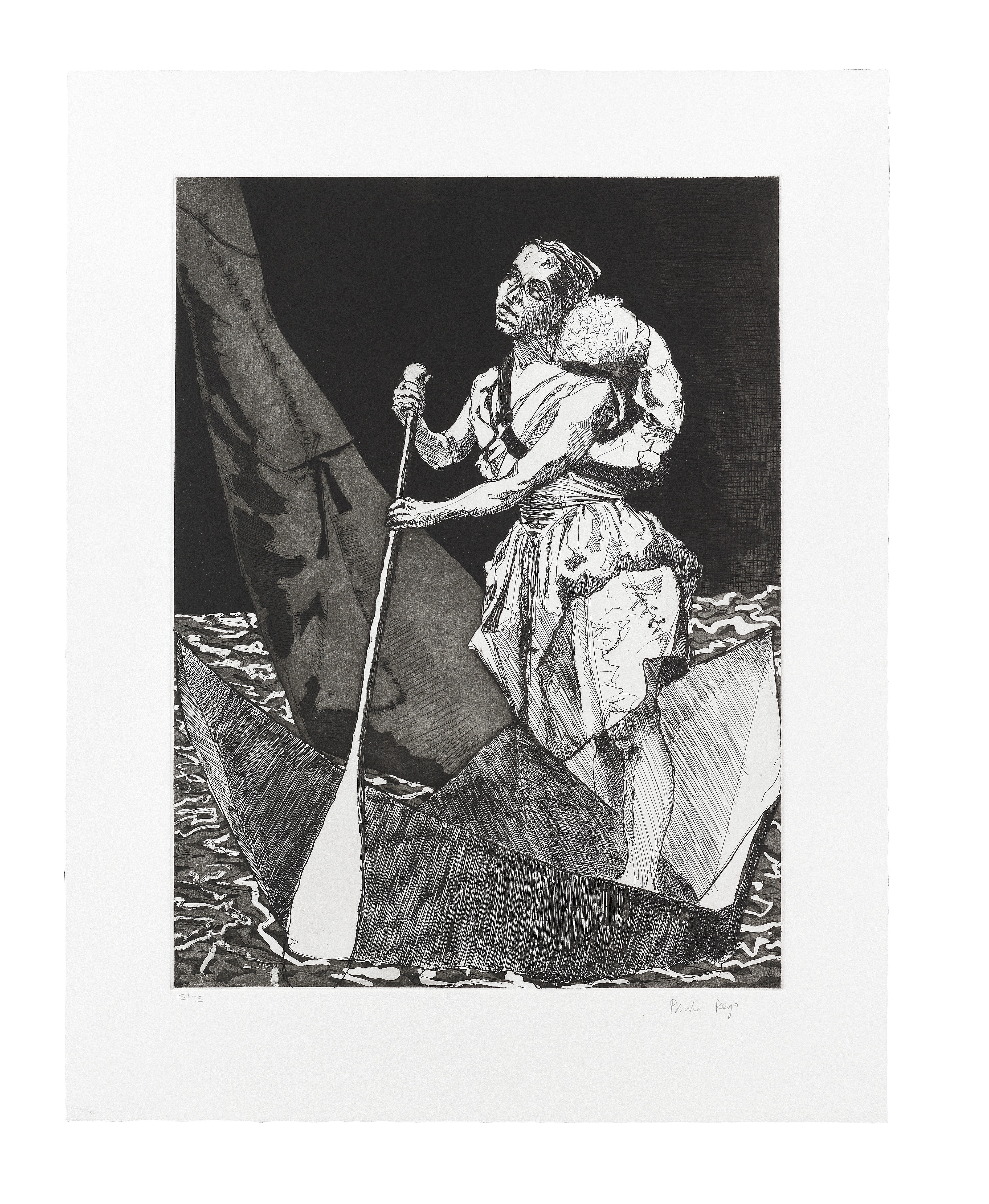 Paula Rego (British, born 1935) The Curved Planks 64.2 x 50 cm. (25 1/4 x 19 5/8 in.) and smaller...