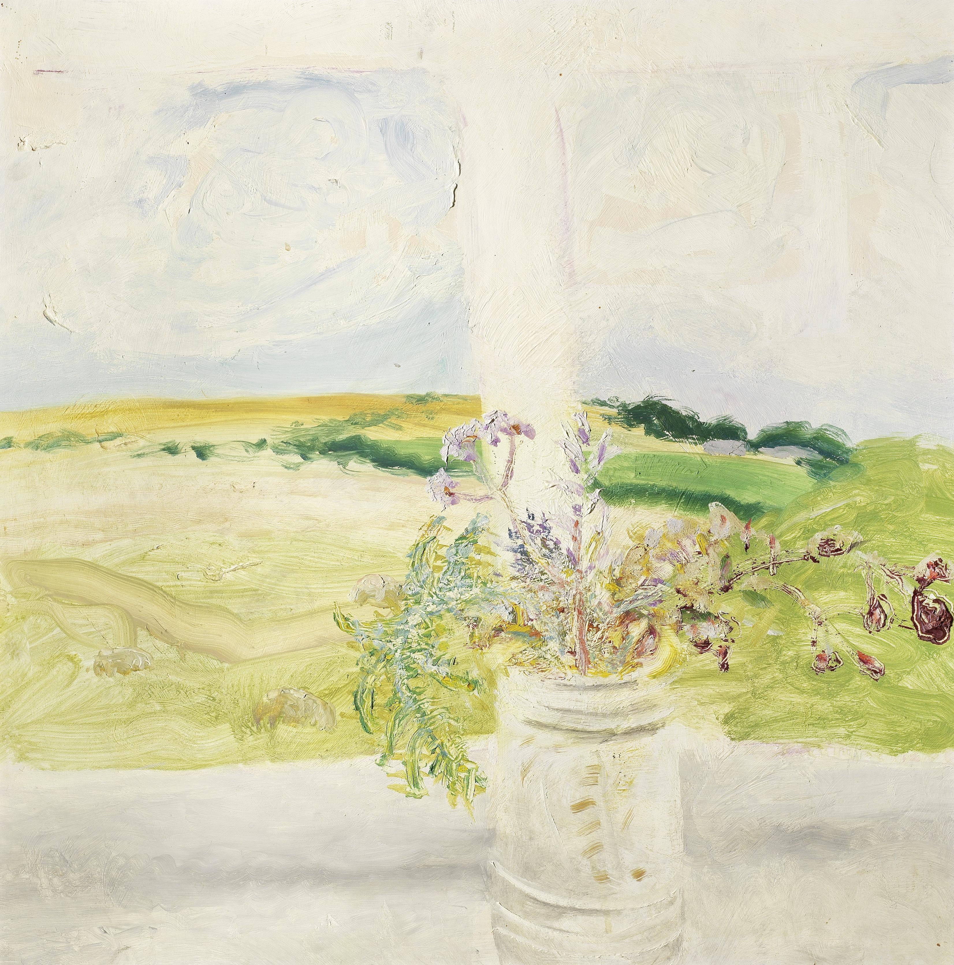 Winifred Nicholson (British, 1893-1981) Arlots 55.3 x 55 cm. (21 3/4 x 21 5/8 in.) (Painted circa...