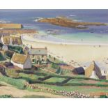 Dame Laura Knight, RA, RWS (British, 1877-1970) Sennen Cove, Cornwall 51 x 61 cm. (20 1/16 x 24 in.)
