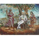 Dora Carrington (British, 1893-1932) A Dance by the Sea 21 x 16.1 cm. (8 1/4 x 10 1/4 in.) (Execu...
