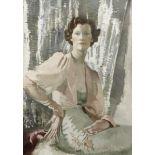 Doris Clare Zinkeisen (British, 1897-1991) Portrait of Miss Harold Taylor 122.3 x 86.3 cm. (48 1/...