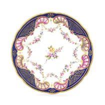 A Nantgarw plate, circa 1818-20