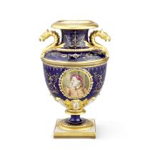 A Flight, Barr and Barr Worcester vase by Thomas Baxter, of theatrical interest, circa 1814-16
