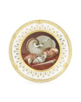 An important Chamberlain Worcester cabinet plate by Thomas Baxter, circa 1820