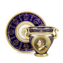 A Flight, Barr and Barr cabinet cup and stand by Thomas Baxter, circa 1815-16