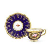 A Flight, Barr and Barr Worcester Royal specimen cup and saucer, circa 1820