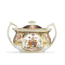 The Chamberlain Worcester sucrier and cover from the Abergavenny tea and coffee service, circa 18...