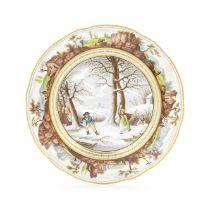 A Derby plate, circa 1825