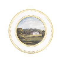 A Swansea plate from the Biddulph Service, circa 1815-17