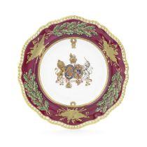 A Spode Royal specimen plate, circa 1830-37