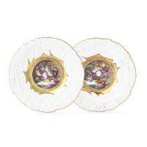 A pair of Rockingham plates, circa 1830-35