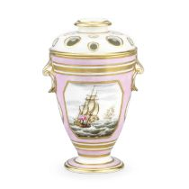 A Derby vase and cover by George Robertson, circa 1797-1800