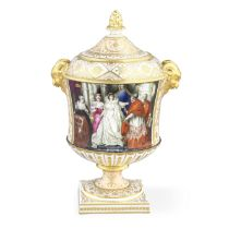 The Abergavenny Vase: an important Chamberlain Worcester vase and cover, circa 1813-14
