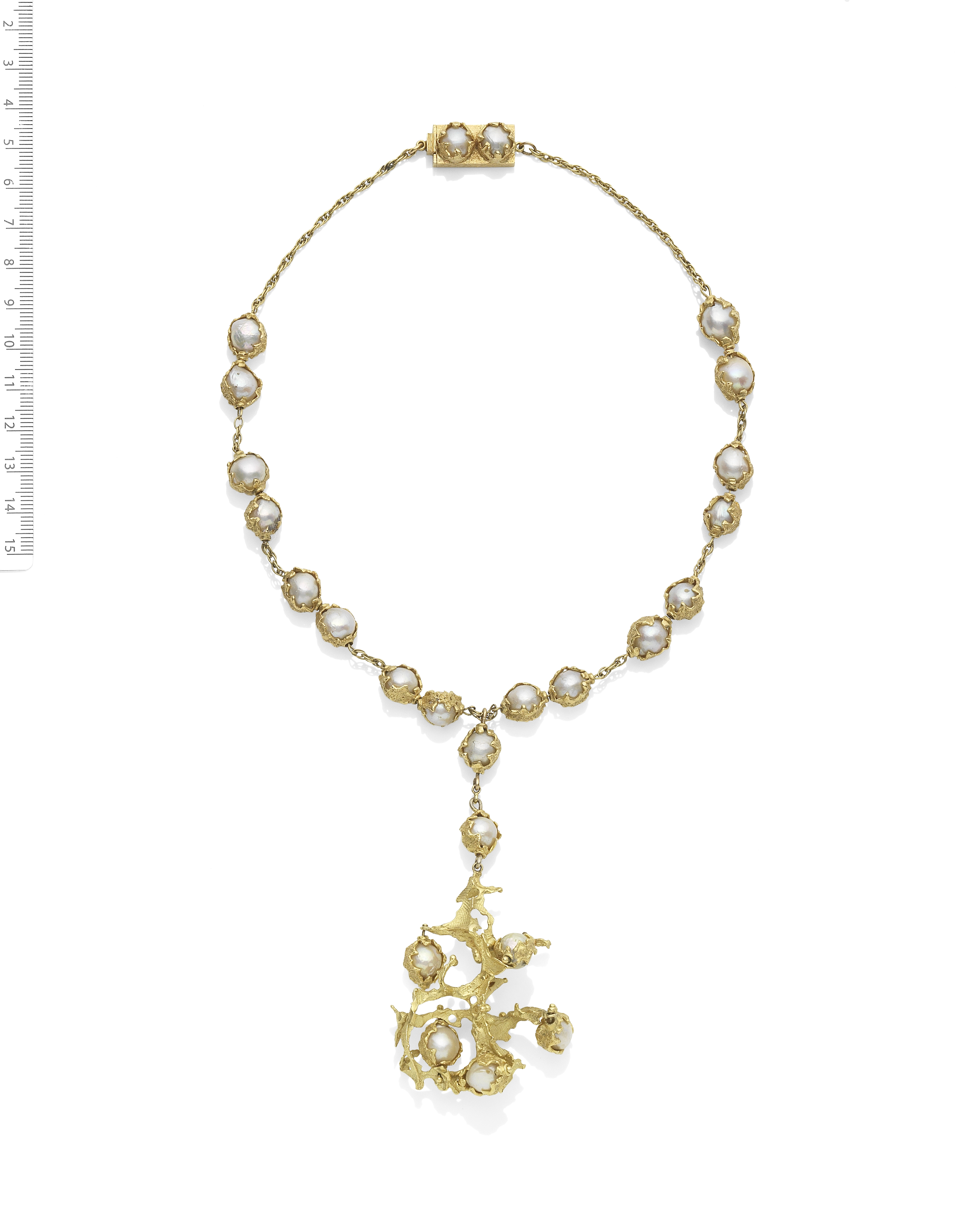 CHARLES DE TEMPLE: 'WRAPPED' CULTURED PEARL NECKLACE, CIRCA 1970