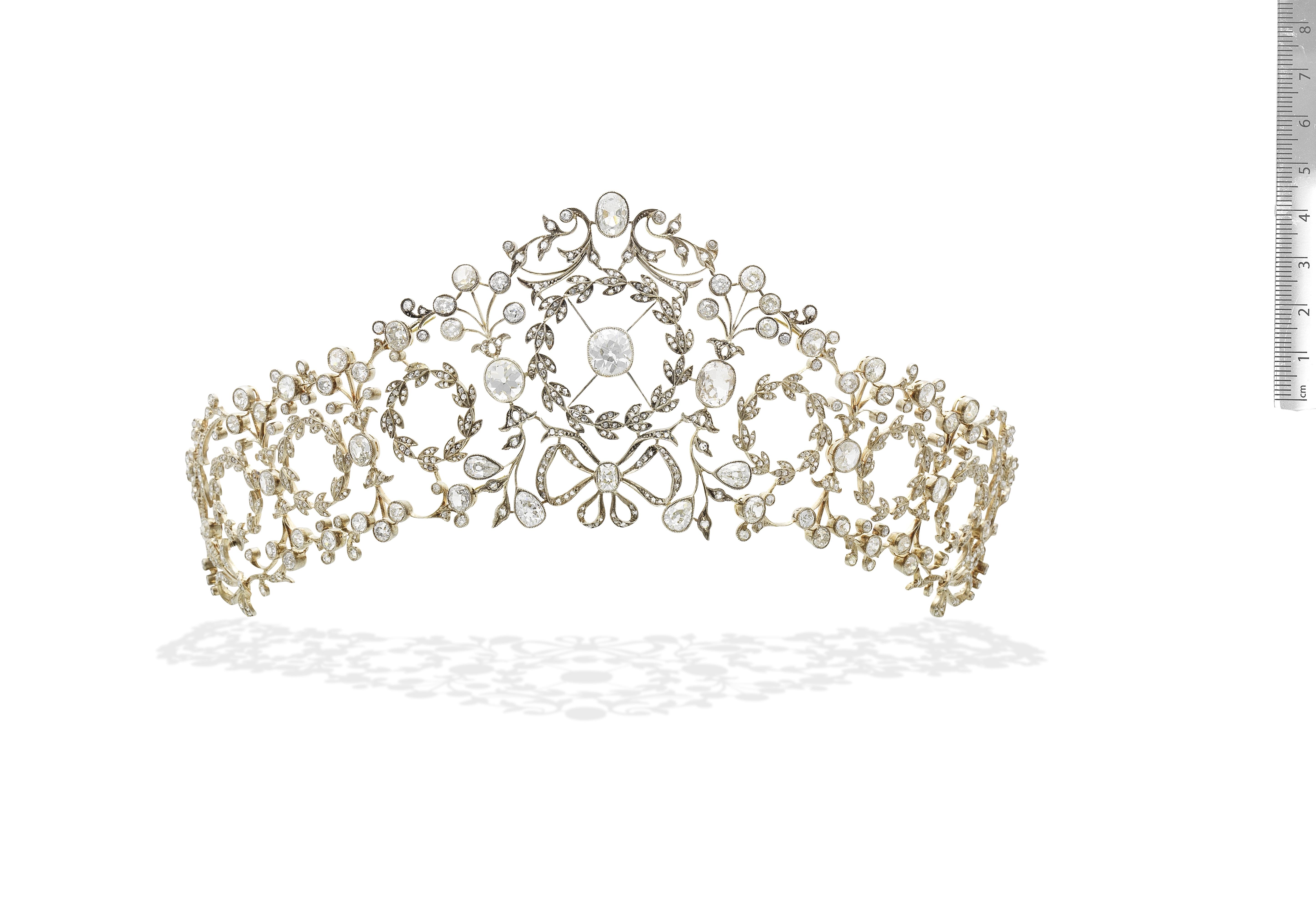 ATTRIBUTED TO GIUSEPPE KNIGHT: BELLE ÉPOQUE DIAMOND TIARA, CIRCA 1905