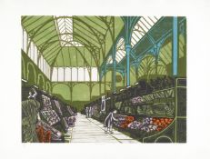 Edward Bawden R.A. (British, 1903-1989) Covent Garden Flower Market, from 'Six London Markets' Li...