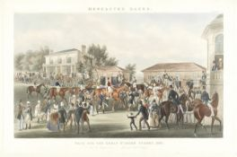 James Pollard (British, 1797-1867) Joy and Desperation, plate 4 from 'Doncaster Races: Race for t...