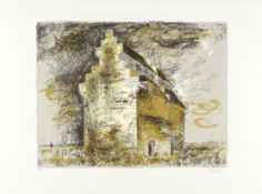 John Piper C.H. (British, 1903-1992) Willington Dovecote, Bedfordshire Lithograph printed in colo...