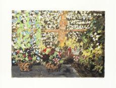 John Piper C.H. (British, 1903-1992) Terrace with Morning Glories Screenprint in colours, 1987, o...