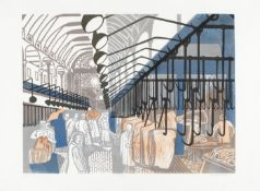 Edward Bawden R.A. (British, 1903-1989) Smithfield Market, from 'Six London Markets' Lithograph p...