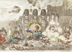 James Gillray (British, 1756-1815) The Hand-Writing upon the Wall; Gentle Emetic; Charming-well a...