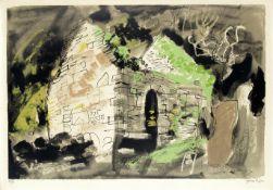 John Piper C.H. (British, 1903-1992) Kirkmaiden Screenprint in colours, 1975, on wove, signed and...