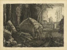 Graham Sutherland O.M. (British, 1903-1980) Pecken Wood Etching, 1925, on laid, from the edition ...
