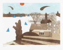 Julian Trevelyan R.A. (British, 1910-1988) Thames Etching and aquatint printed in colours, 1964, ...