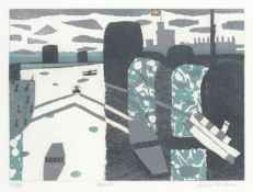 Julian Trevelyan R.A. (British, 1910-1988) Windsor, from 'Thames Suite' Etching and aquatint prin...