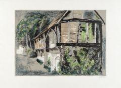 John Piper C.H. (British, 1903-1992) Courthouse, Long Crendon, Buckinghamshire Lithograph printe...
