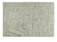 Henry Moore O.M., C.H. (British, 1898-1986) Group of Figures Lithograph printed in colours, 1974...