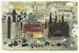 John Piper C.H. (British, 1903-1992) Halifax Screenprint in colours, 1990, on wove, signed with t...