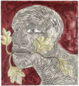 Dame Elisabeth Frink R.A. (British, 1930-1993) Green Man (Red) Screenprint in colours, 1992, on w...