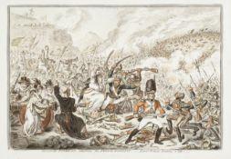 James Gillray (British, 1756-1815) Spanish-Patriots attacking the French-Banditti.- Loyal Britons...