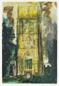 John Piper C.H. (British, 1903-1992) Isle Abbots Screenprint in colours, 1986, on wove, signed an...