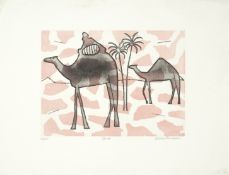 Julian Trevelyan R.A. (British, 1910-1988) Camels Etching and aquatint printed in colours, 1972, ...