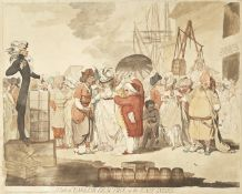 James Gillray (British, 1756-1815) A Sale of English-Beauties, in the East-Indies Etching and aqu...