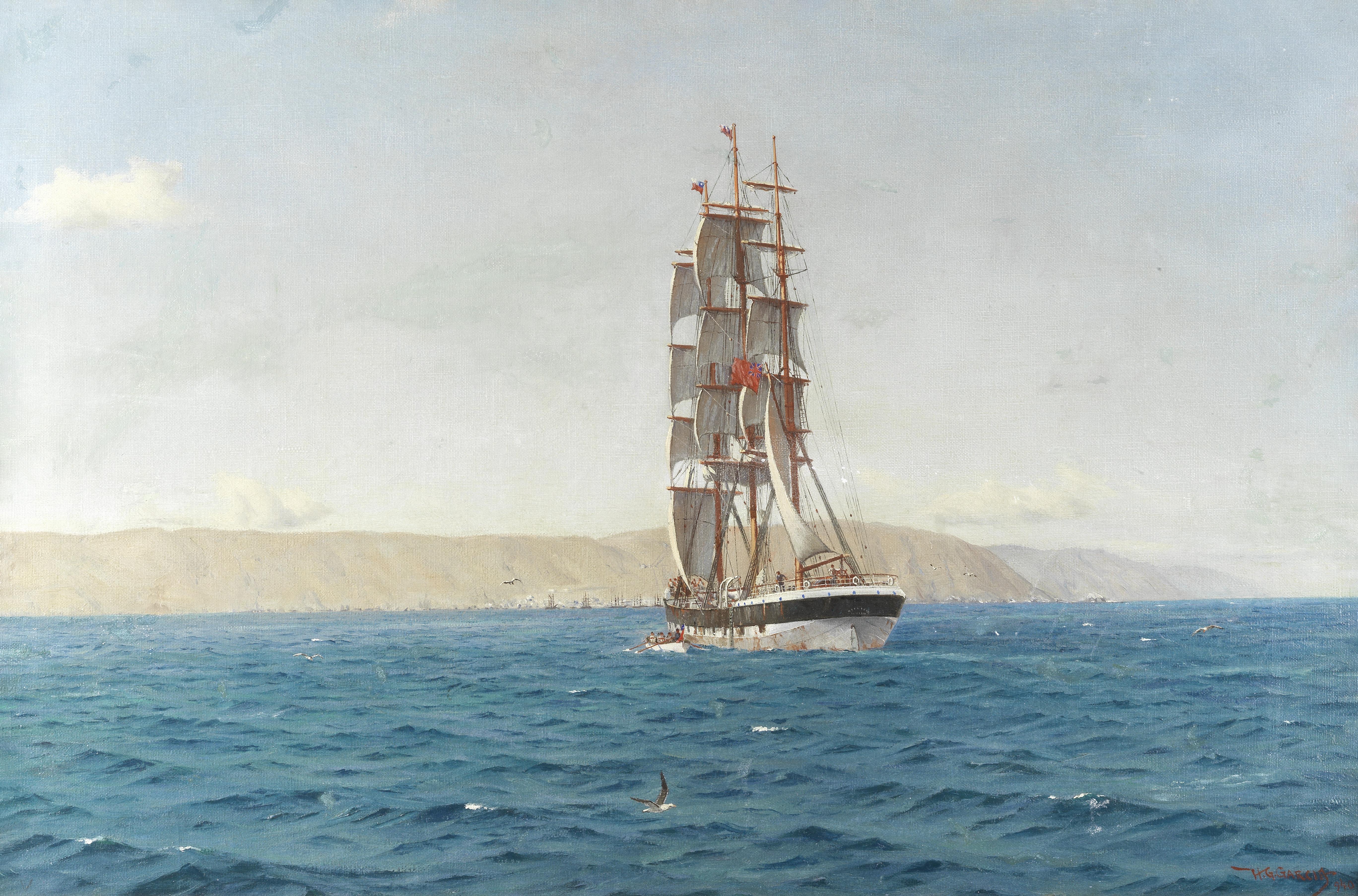 Horacio Gerardo Garcia (Chilean, 1878-1942) The Westland off Iquique, Chile