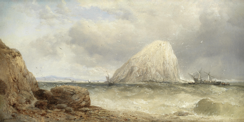 James Webb (British, 1825-1895) The Bass Rock